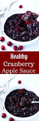 healthy cranberry apple sauce thanksgiving