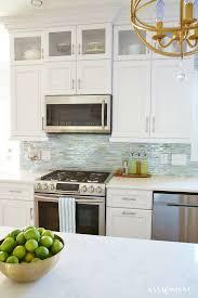 Green Brick Backsplash Tiles Transitional Coastal Kitchen Makeover The Reveal Lucca Coastal And Agate