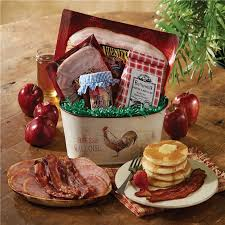 breakfast baskets breakfast gift tin pancake meats syrup nueske s