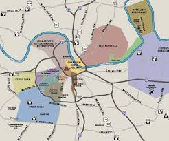 Eastern Tennessee Map by Downtown Nashville Map And Transportation Music City Visit