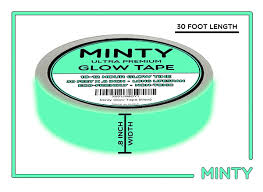 oxo candela luau portable l minty glow tape bright glow in the dark fluorescent green tape