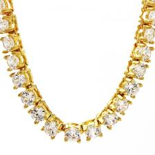 diamonds gold necklace images Tennis diamond gold chain jpg