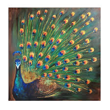 Livingroom Theaters Portland Amazon Com Bombay Peacock Wall Art Canvas 39 5 Inch Posters