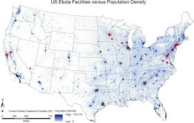 Population Density World Map by Us Ebola Treatment Centers Plus Population Maps On The Web