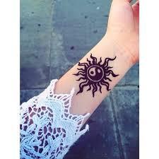 henna yin yang sun sumer tattoo tattoo pinterest yin yang