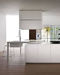 contemporary kitchen wooden island lacquered banco by luca