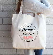 sac en toile personnalisable sac tote bag personnalisé pour une nounou trop cool sac fourre