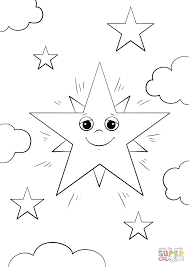 cartoon star character coloring page free printable coloring pages