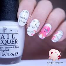 piggieluv valentine u0027s day nail art can i hold your hand hand