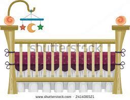 illustration vintage crib framed by cream stock vector 241406521