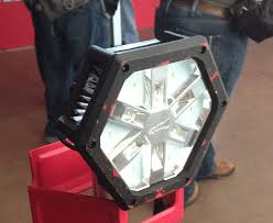milwaukee m18 trueview led stand light new milwaukee tool lights for 2015 first look tools in action