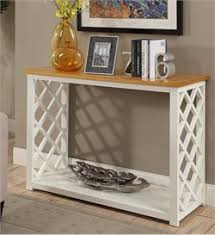 convenience concepts console table cape cod console table in knotty pine white finish convenience