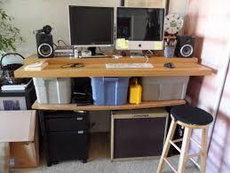 bedroom cool diy mobile stand up computer desk jays custom