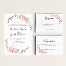 printing wedding invitations printable wedding invitation printable floral wedding invitation