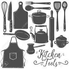 cuisine et ustensiles ustensiles de cuisine pâtisserie pâtisserie silhouette plat set