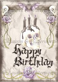 gothic birthday card steampunk card alternative by lcwaterworth