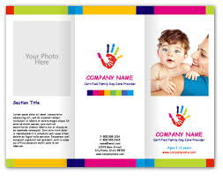 daycare brochure template child care brochure exles fieldstation co