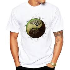 aliexpress yang fashion yin yang tree design men t shirt short sleeve customized t