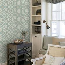 trellis wallpaper dusky blue peel and stick