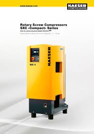 rotary compressors sxc compact series kaeser pdf