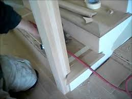 Newel Post To Handrail Fixing How To Install Hardwood Floors On Stairs Installing A Stair Tread