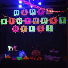 Blacklight Halloween Party Ideas by Teen Boy Bday Party Neon Glow In The Dark Kyle U0027s Partee