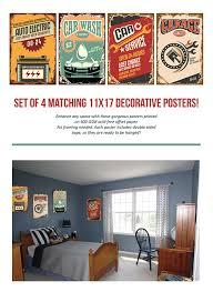 amazon com retro signs for garage set of four 11x17 funny
