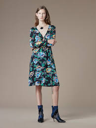 sleeve silk jersey wrap dress landing pages by dvf