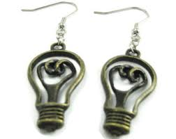 earrings for school lightbulb earrings etsy
