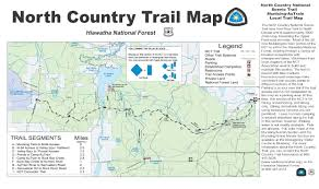 Map Of The Upper Peninsula Of Michigan Hiawatha National Forest North Country National Scenic Trail