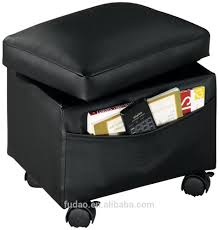 cube stool upholstered footrest storage leather ottoman with