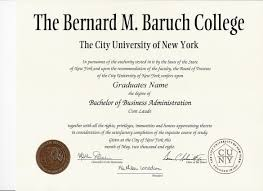 graduation diploma bernard m baruch college graduation gift