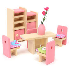 wooden dollhouse furniture sets roselawnlutheran wooden delicate dollhouse furniture toys miniature for kids children pretend play 6 room set 4