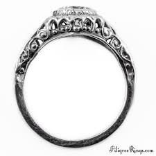 swirl engagement rings 049fr vintage filigree engagement ring for a
