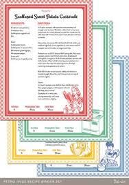family favorites recipe book 5 5x8 5 size binder each food