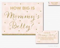 baby showergames s belly printable baby shower pink gold