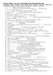 english worksheets modal verbs worksheets page 67