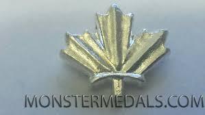 leaf ribbon maple leaf ribbon bar emblem for canadian volunteer service medal