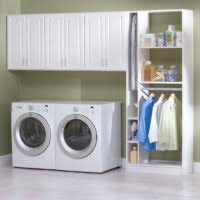 furniture light blue laundry room interior color design with