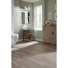 Peel And Stick Laminate Floor Shop Stainmaster 6 In X 24 In Groutable Chateau Light Gray Peel
