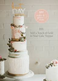 wedding cake diy diy wedding add a touch of gold to your cake topper the details