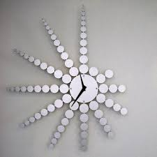 unique clock fractal wall clock by john nalevanko metal clock clocks wall