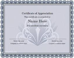 Free Certificate Of Excellence Template Word Certificate Template 31 Free Sles Exles