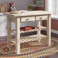 unfinished wood kitchen island unfinished wood kitchen islands carts you ll wayfair