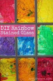 Kids Stained Glass Craft - 16 faux stained glass crafts for kids faux stained glass glass