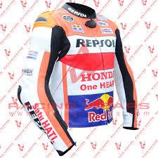 motogp jacket racing wears marc marquez honda repsol motorbike racing leather