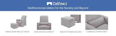 davinci olive upholstered swivel glider with bonus ottoman grey amazon com davinci olive upholstered swivel glider with bonus