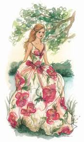 art design dress elegant fashion floral gown all of illustration