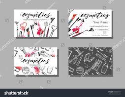 makeup artist business card vector template stock vector 390350137
