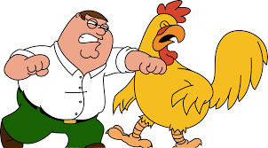 this is peter griffin this is a chicken family guy al